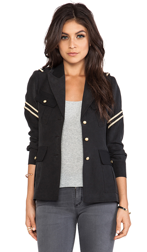 Smythe Military Jacket in Black at Revolve Clothing