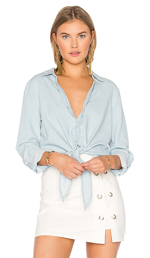 Soft Joie Crysta Button Up in Blue
