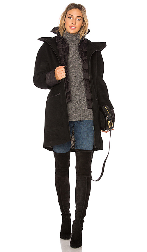 Soia & Kyo Rosalia Wool Coat in Black