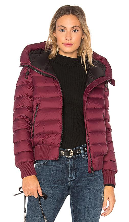 Soia & Kyo Tiphane Puffer Jacket in Burgundy