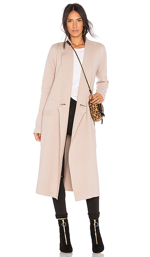 SOIA & KYO ANNABELLA LONG KNIT COAT