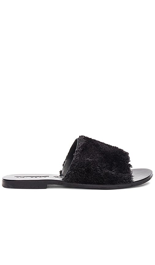 Sol Sana Teresa Sheep Fur Slide in Black