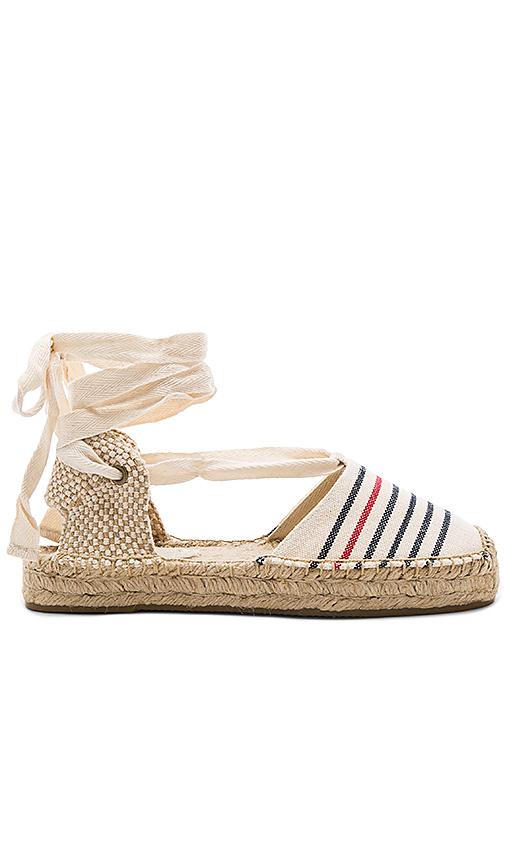 Soludos Striped Gladiator Sandal in Navy. - size 10 (also in 7.5,9.5)