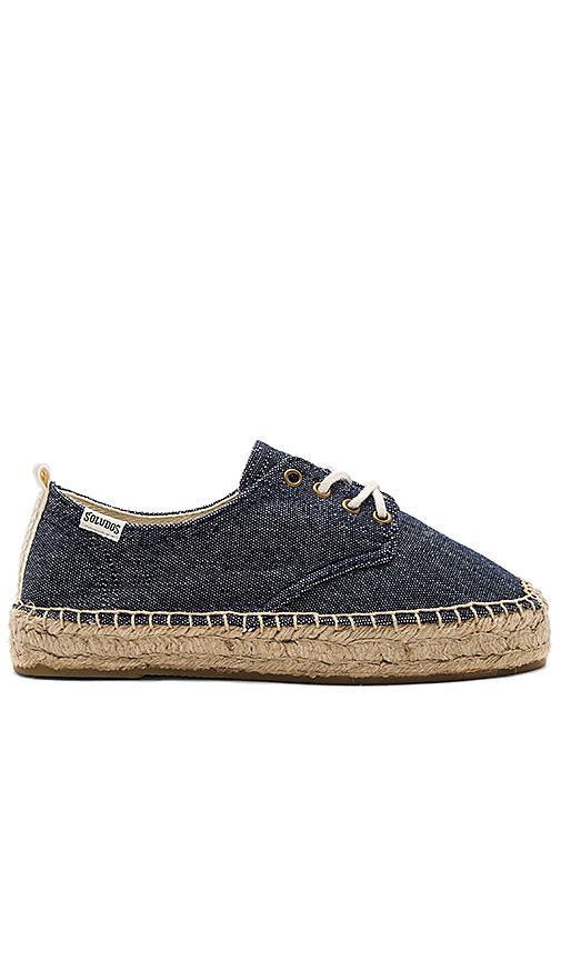 Soludos Oxford Lace Up Platform in Navy. - size 7 (also in 7.5,8)