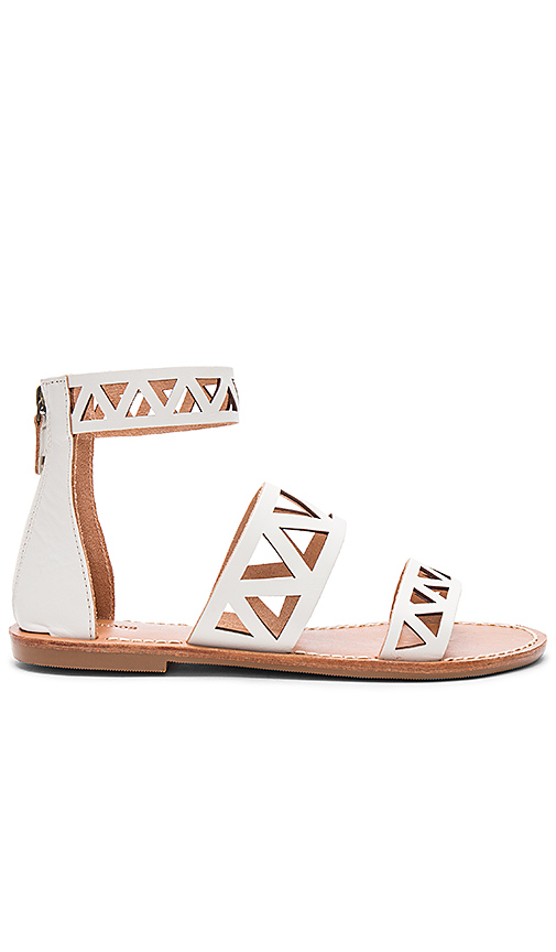 Soludos Geo Laser Cut Band Sandal in Ivory