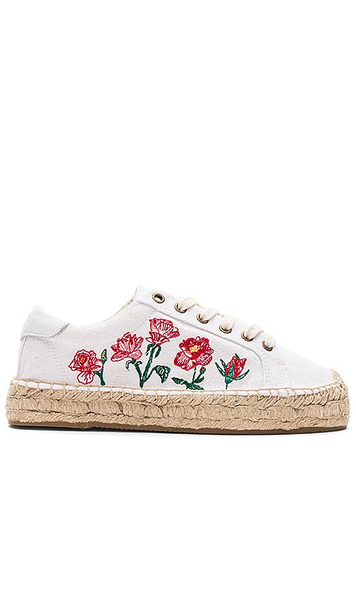 Soludos Rose Platform Tennis Sneaker in White