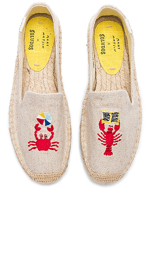 Soludos Lobster and Crab Platform in Beige. - size 10 (also in 6,6.5,7.5,8,8.5,9,9.5)