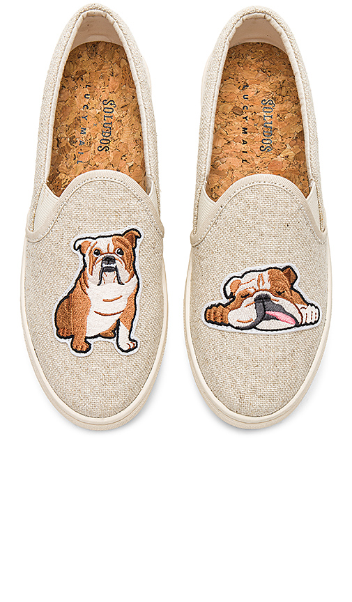 Soludos Bulldog Slip On Sneaker in Beige