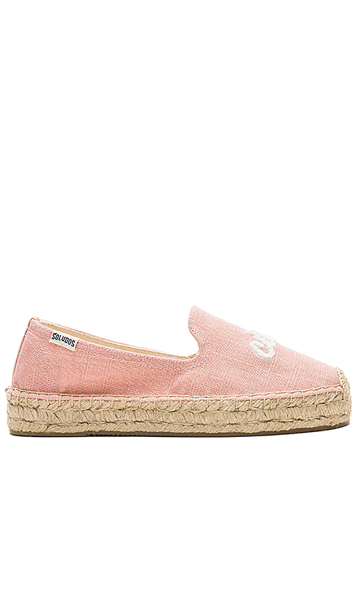 Soludos Ciao Bella Smoking Slipper in Pink