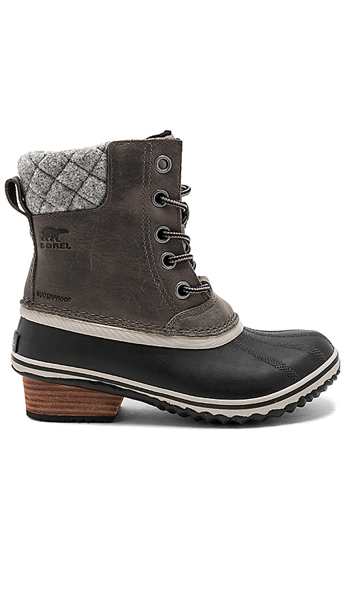 Sorel Slimpack II Lace Boot in Charcoal