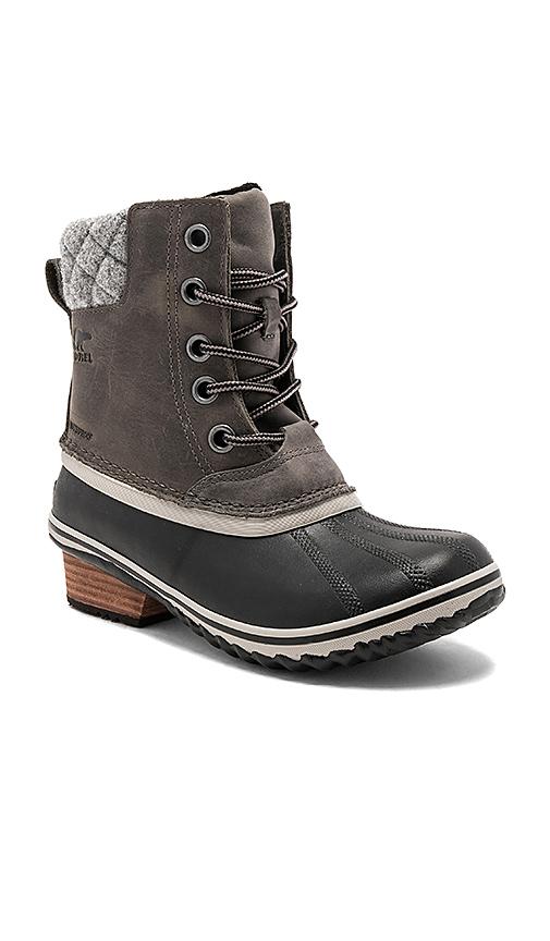 Sorel Slimpack II Lace Boots in Black