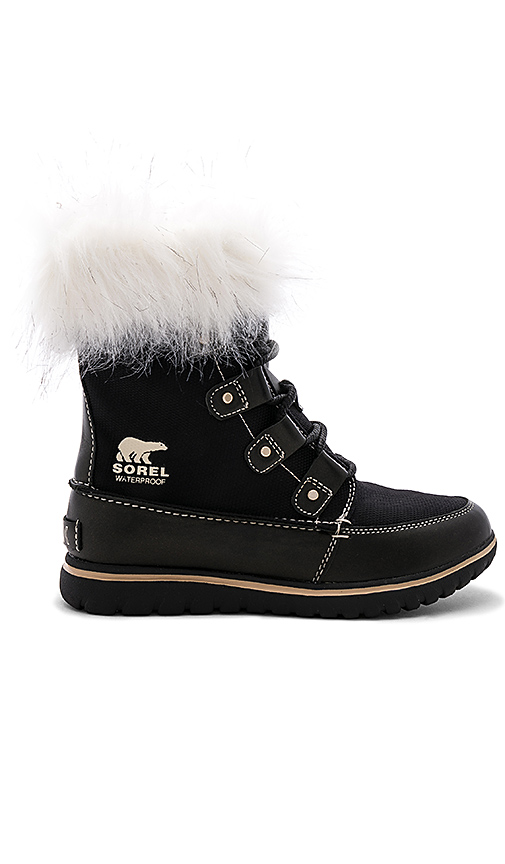 Sorel Cozy Joan X Celebration Faux Fur Boot in Black