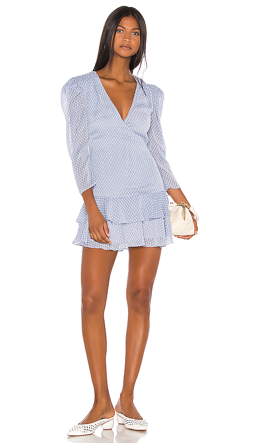 Song of Style Jace Mini Dress in Blue. - size M (also in L,S,XL,XS)