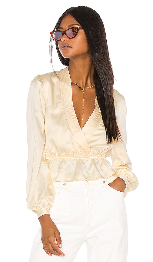 Song of Style Jennica Top in Cream. - size L (also in M,S,XL,XS,XXS)