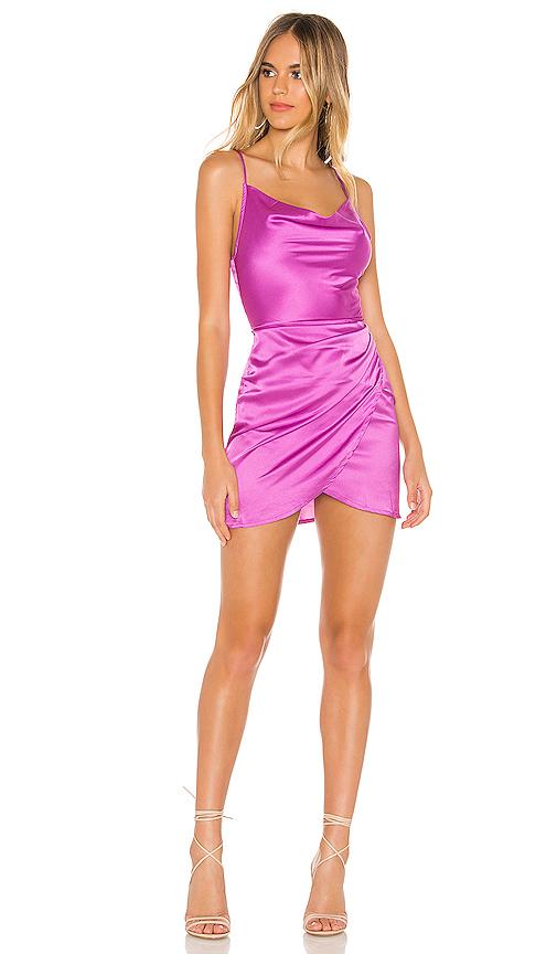 superdown Arezo Cowl Wrap Dress in Purple. - size S (also in XXS,XS,M)