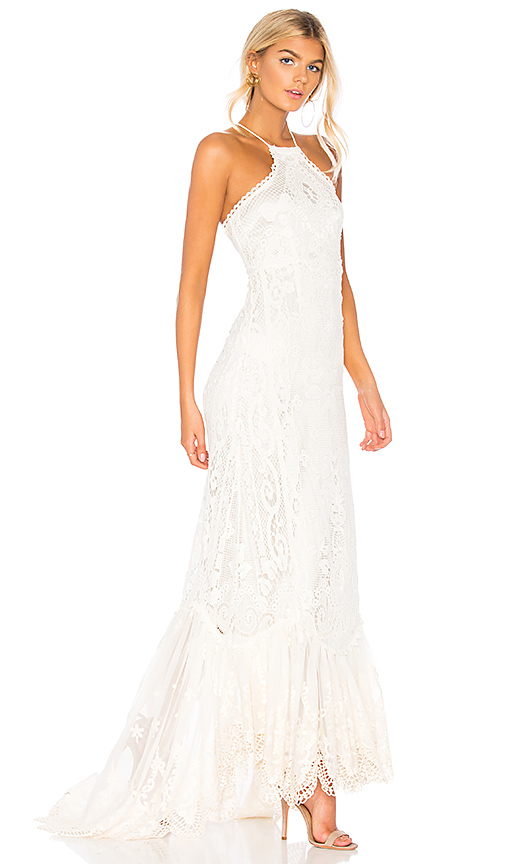 Spell & The Gypsy Collective Casablanca Halter Gown in White. Size M.