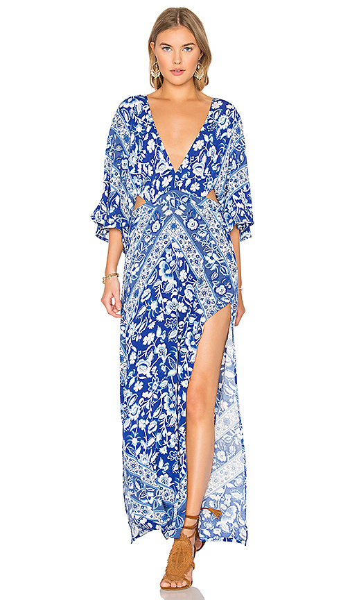 Spell & The Gypsy Collective Lolita Cutout Maxi Dress in Blue