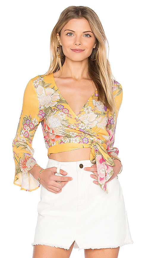 Spell & The Gypsy Collective x REVOLVE Blue Skies Wrap Top in Yellow