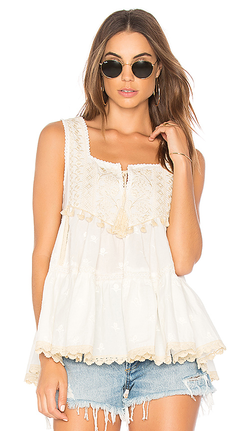 Spell & The Gypsy Collective Cassidy Sleeveless Top in White