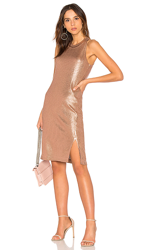 Splendid Astor Dress in Metallic Copper