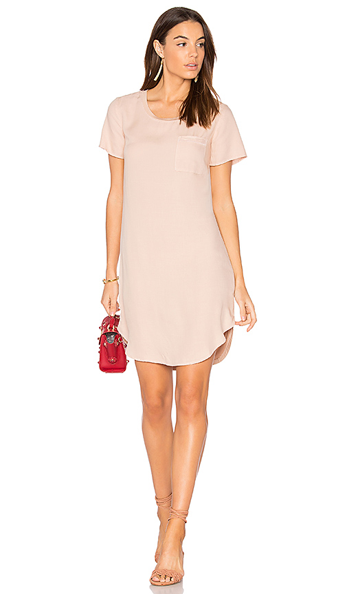 Splendid Mixed Media Shirt Dress in Pink