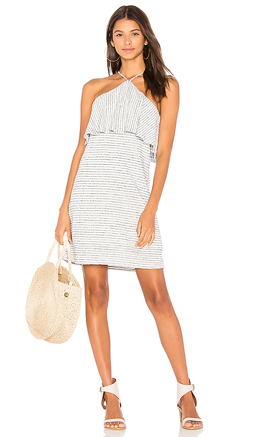 Splendid Linen Mini Stripe Dress in Blue