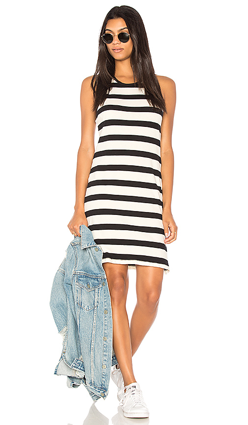 Splendid Seaboard Stripe Racerback Dress in Black & White