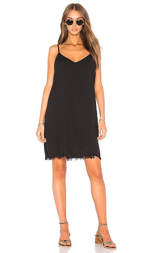 Splendid Mini Slip Dress in Black