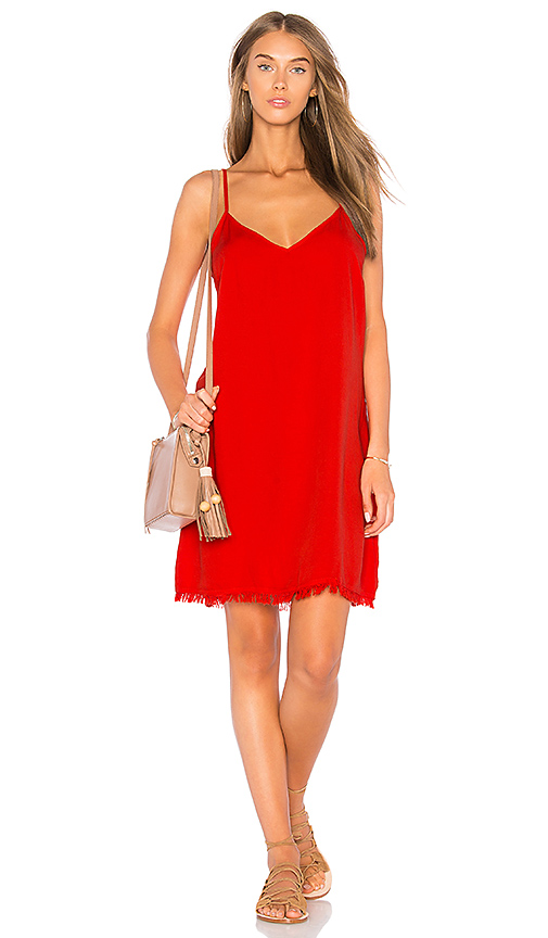 Photo of Splendid Mini Slip Dress in Red - shop Splendid dresses sales