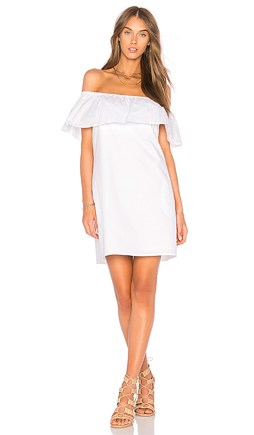 Splendid Tropic Floral Dress in White