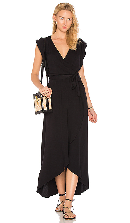 Splendid Wrap Dress in Black. - size L (also in M,S)