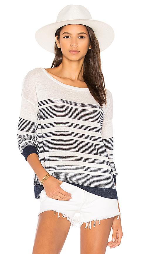 Splendid Nevis Stripe Sweater in Navy. - size L (also in M)