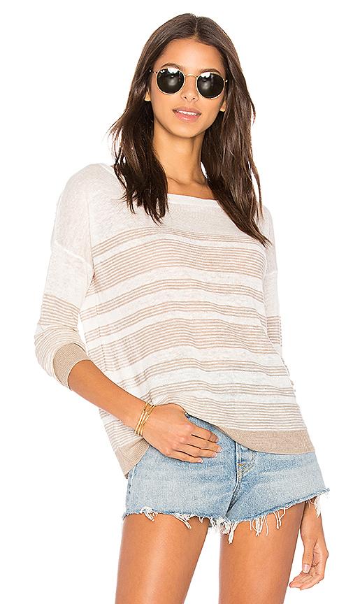 Splendid Nevis Stripe Sweater in White. - size L (also in M)