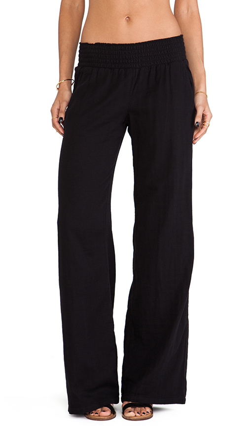 Splendid Woven Wide Leg Pants in Black
