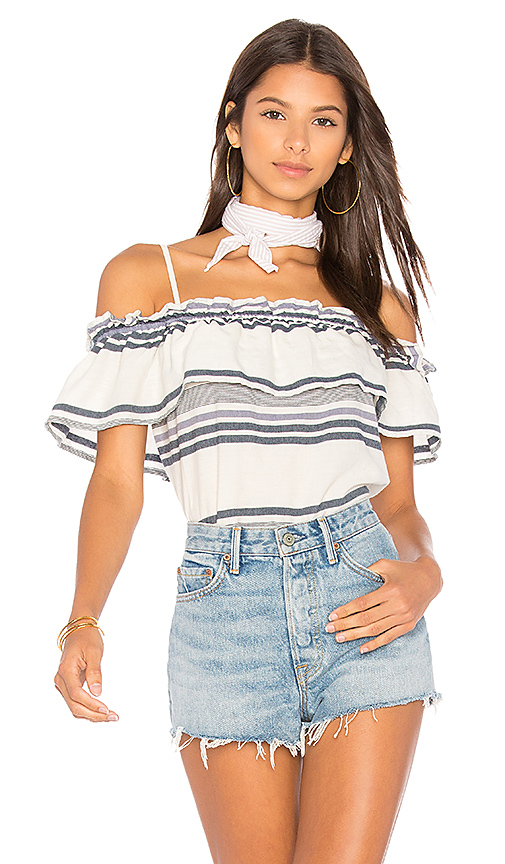 Splendid Traveler Stripe Top in Blue
