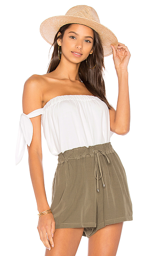 Splendid Off the Shoulder Top in White