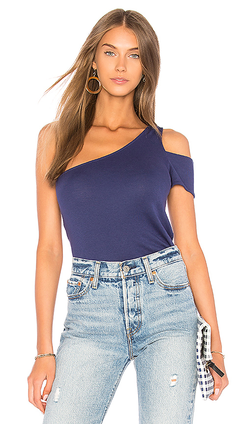 Splendid 1X1 One Shoulder Top in Blue