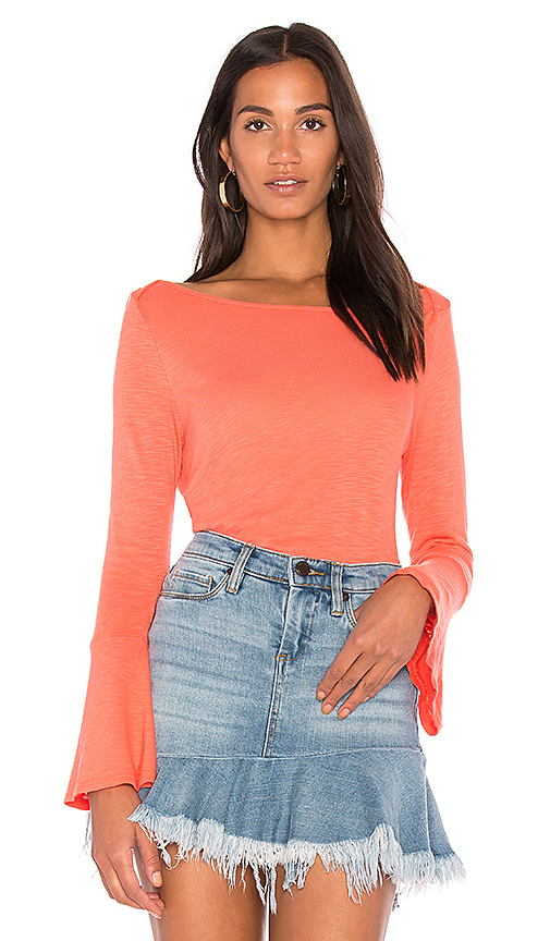 Splendid Bell Sleeve Tee in Orange