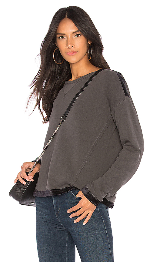 Splendid Velvet Top in Gray
