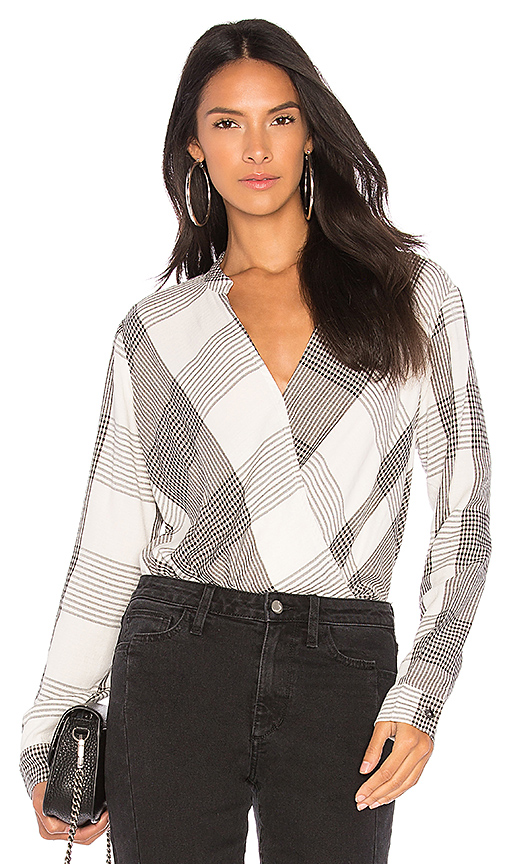 Splendid Murray Plaid Top in White