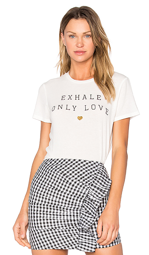 Spiritual Gangster Exhale Only Love Tee in White