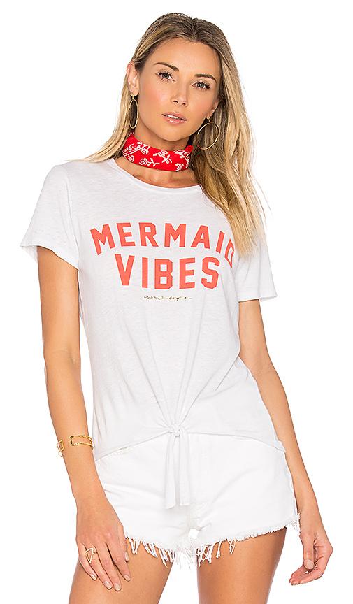 Spiritual Gangster Mermaid Vibes Mahalo Tee in White