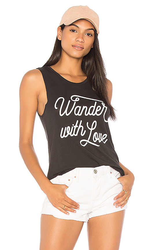 Spiritual Gangster Wander With Love Muscle Tank in Black