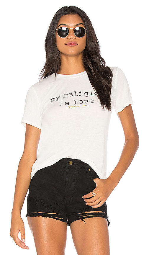 Spiritual Gangster My Religion Is Love Zen Tee in White