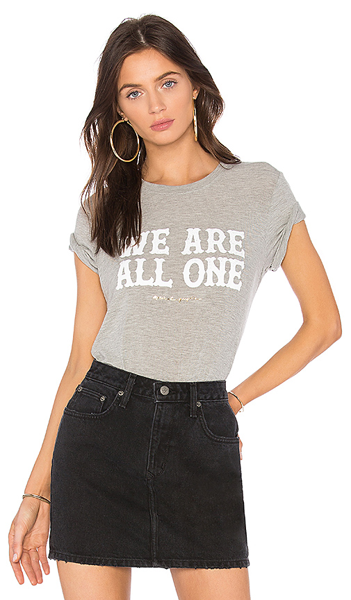 Spiritual Gangster We Are All One Zen Tee in Gray