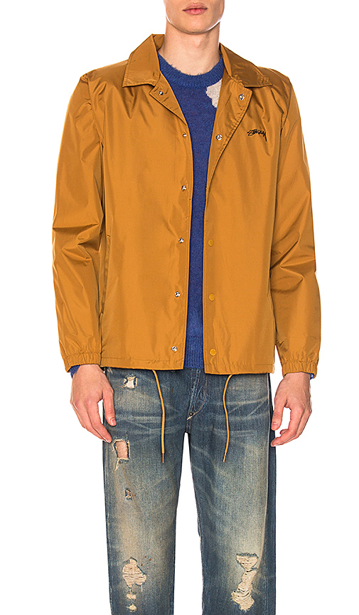 Stussy Cruize Coach Jacket in Mustard. - size L (also in M,S,XL)