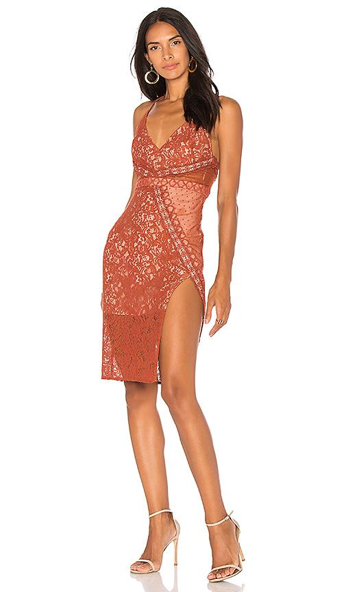 STYLESTALKER Laylor Midi Dress in Orange