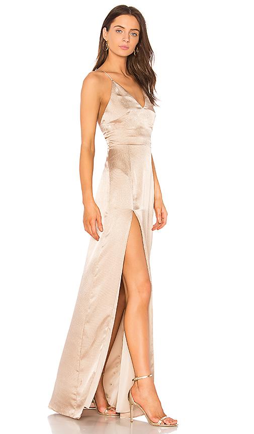 STYLESTALKER Lilah Maxi Dress in Beige