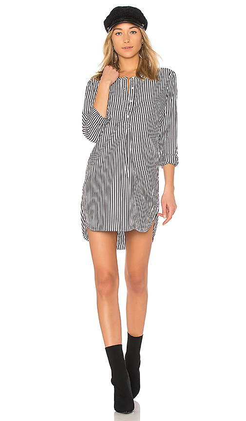 Stateside Oxford Shirting Dress in Black. - size XS (also in L,M,S)
