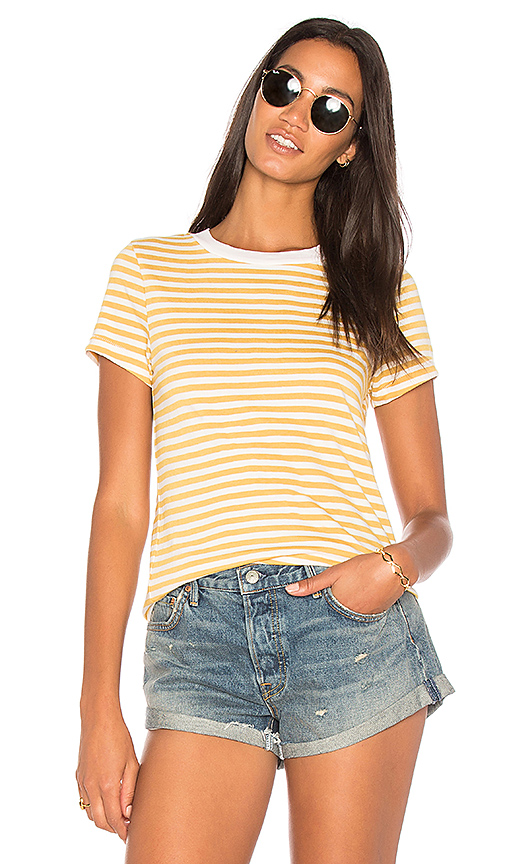 Stateside Mustard Stripe Top in Mustard